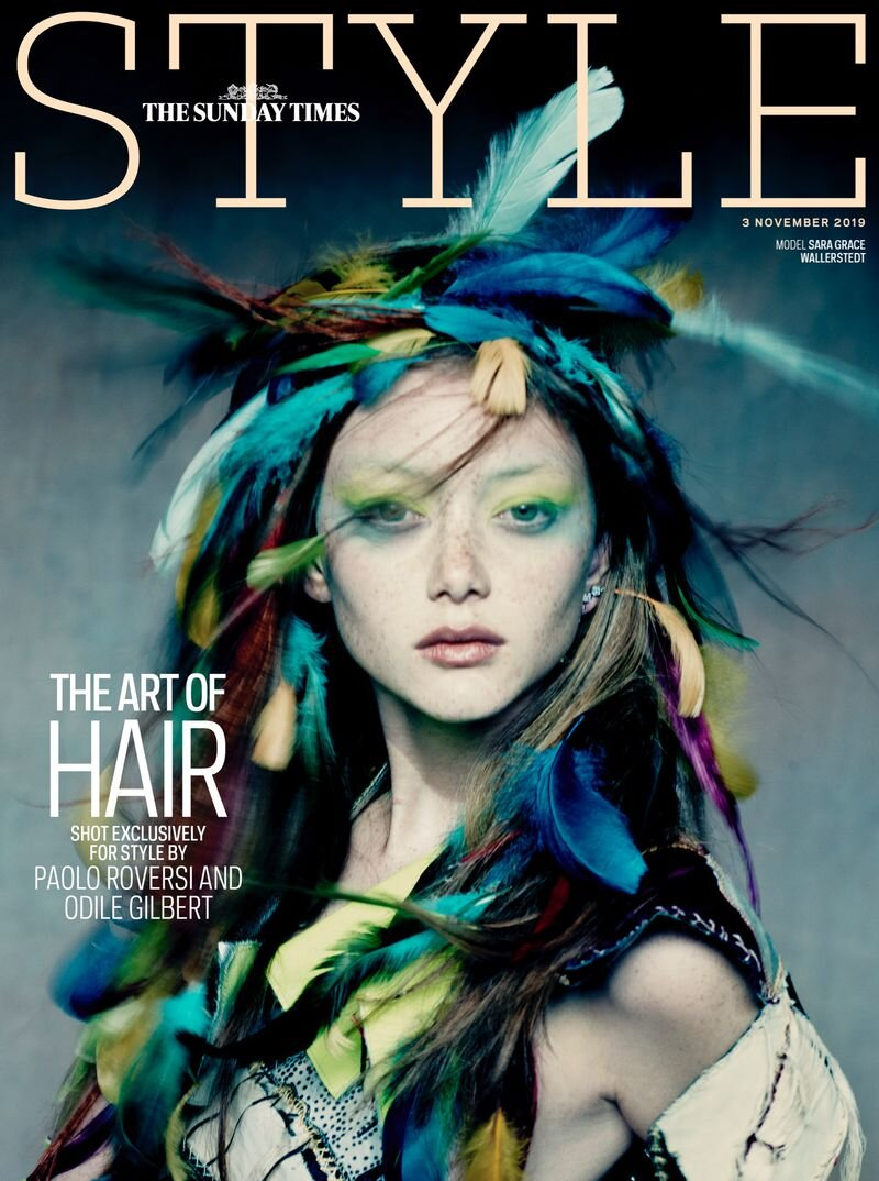Sara GraceWallerstedt by Paolo Roversi for Sunday Times Style UK Nov 3 2019 Cover.jpg