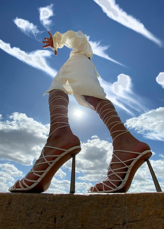 Amina Muaddi 's Fenty Shoe Debut in