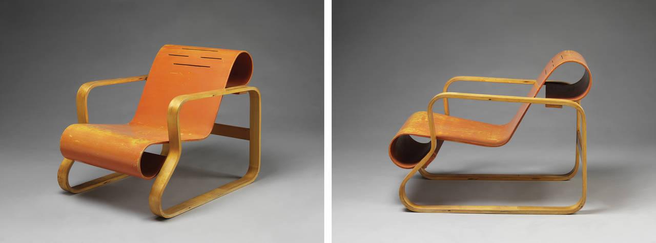 Armchair, designed by Alvar Aalto, 1932, Finland. Museum no. W.41-1987. © Alvar Aalto Museum. Photograph Victoria and Albert Museum, London