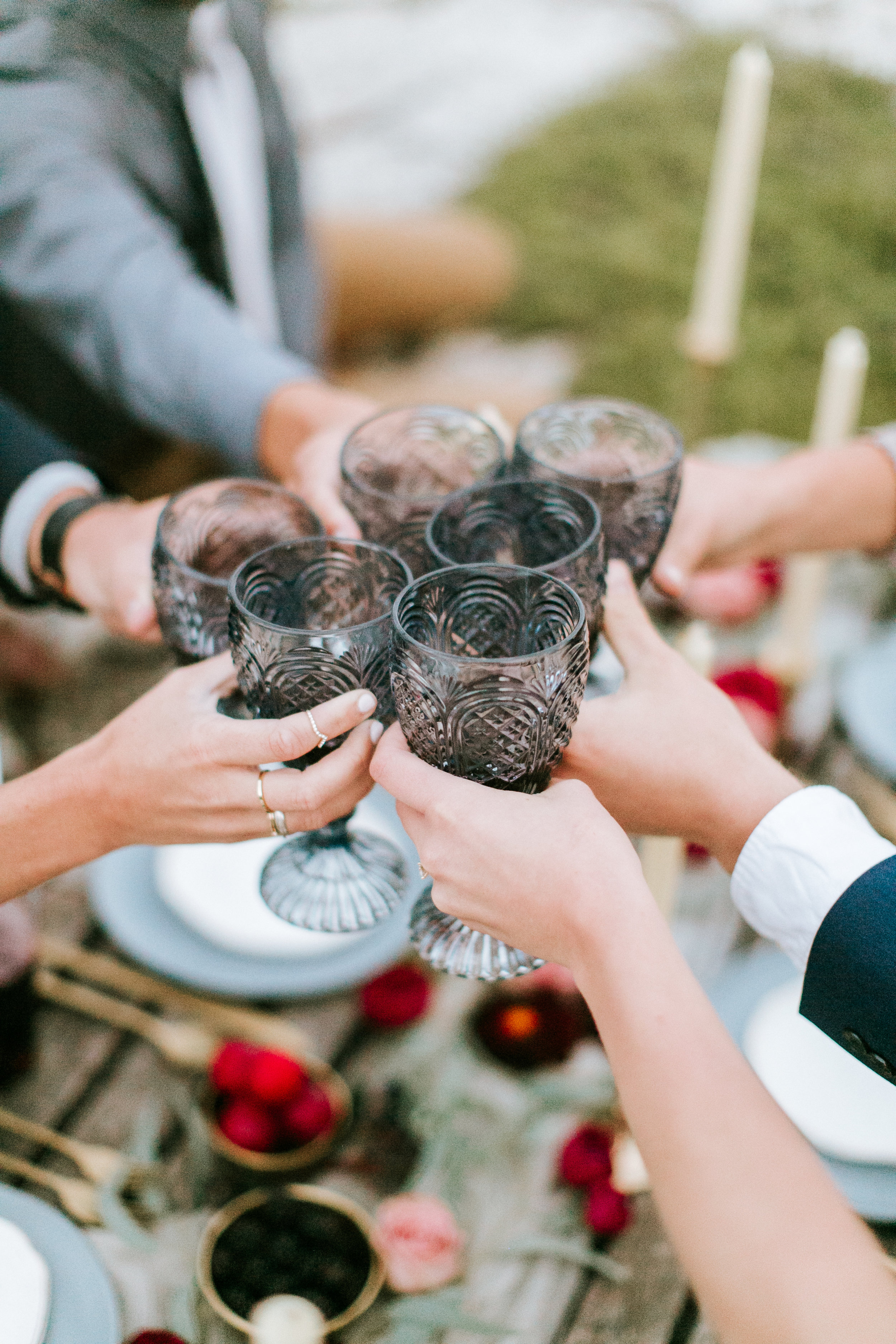 Get the look: Sapphire goblets