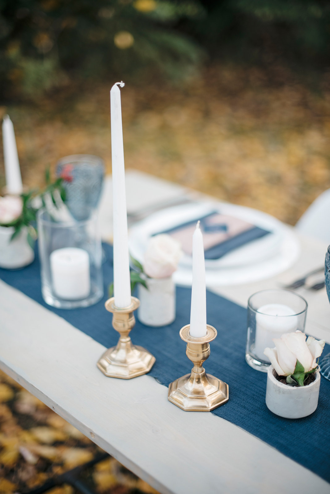 Get the look: gold candleholder