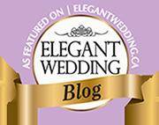 Elegant wedding badge