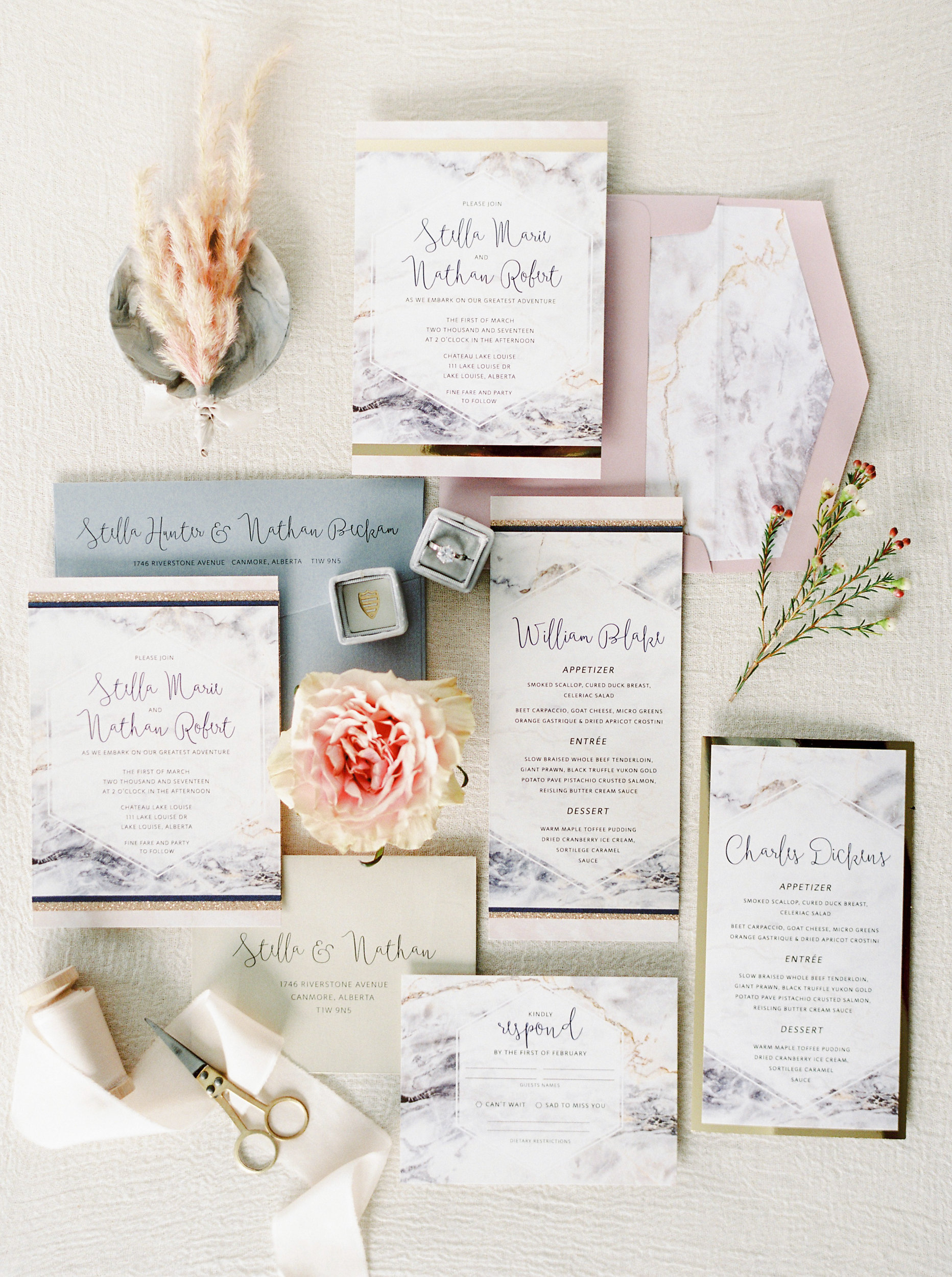 Stationery: Pink Umbrella | Photo: Justine Milton Photography