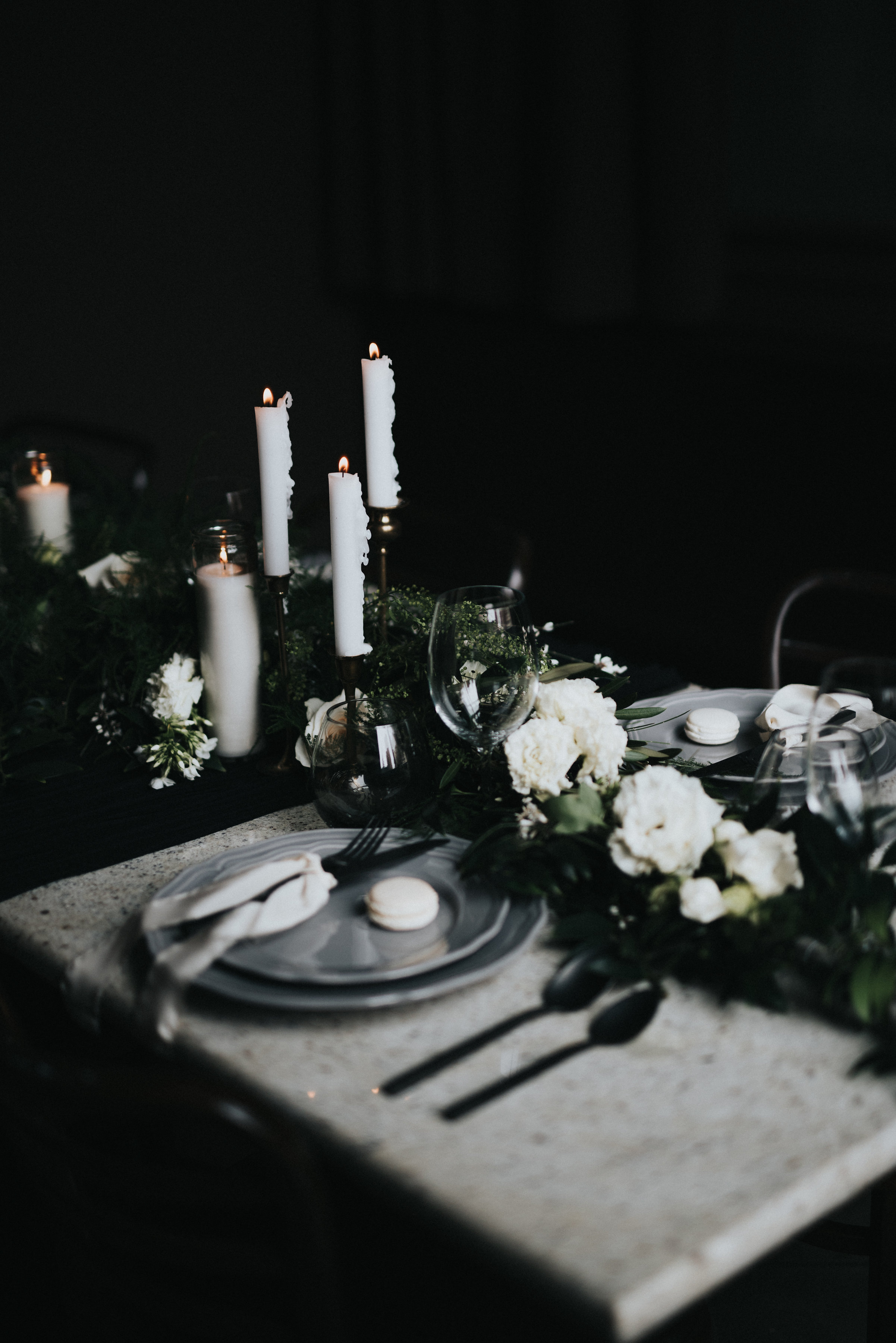 100 Layer Cake: Moody Lunar Inspired Wedding Inspiration. Click for more.