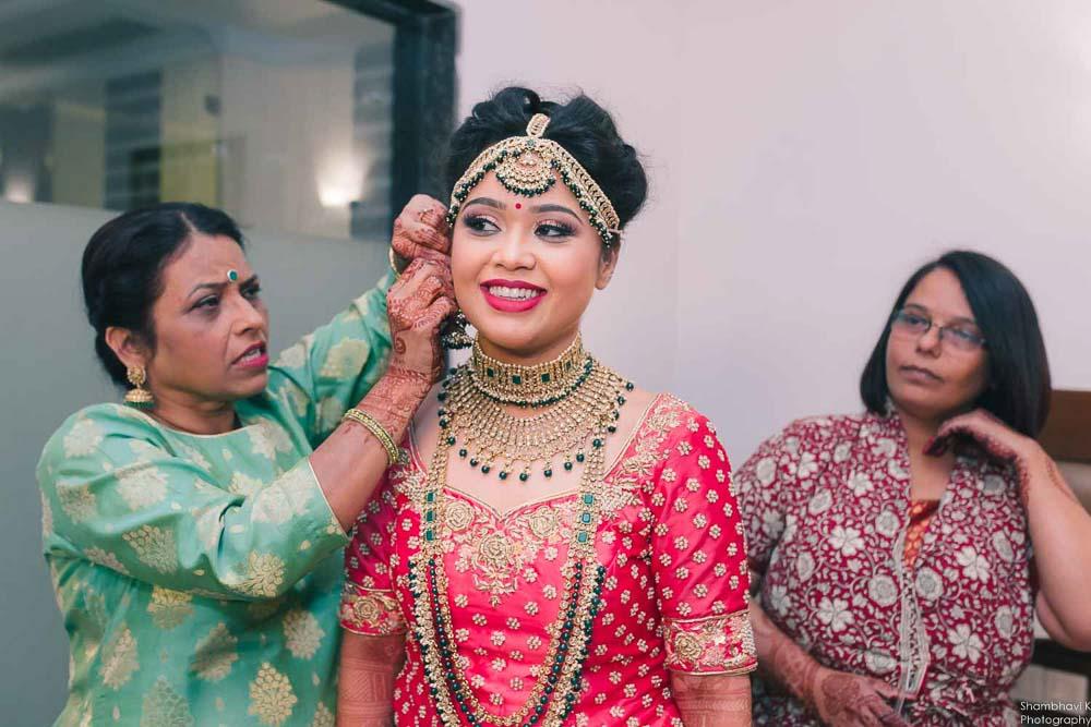Punjabi wedding getting ready in gurudwara delhi