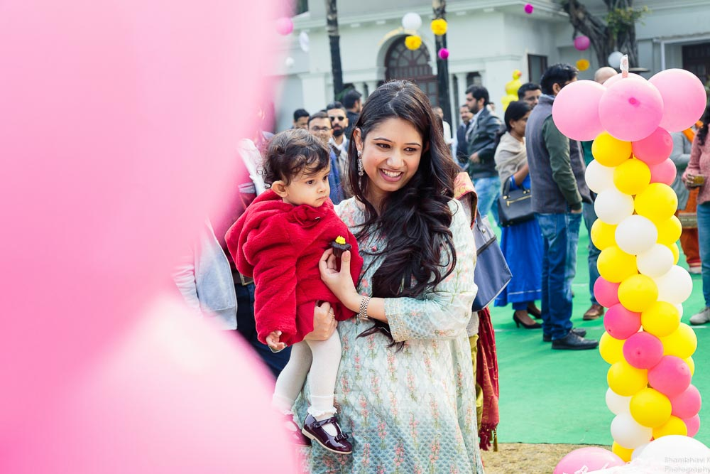 candid photos of birthday baby girl delhi