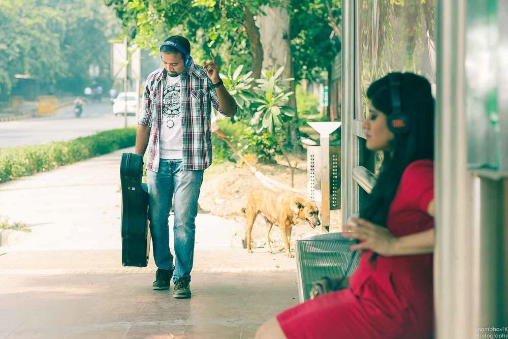 music themed pre-wedding shoot in delhi