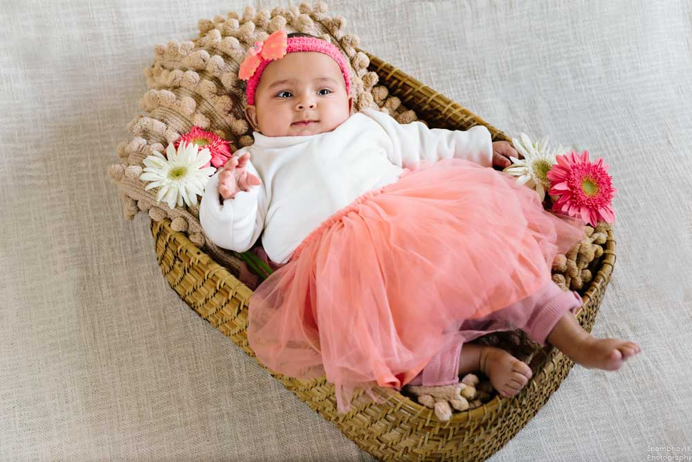 completed 5 month baby photoshoot delhi