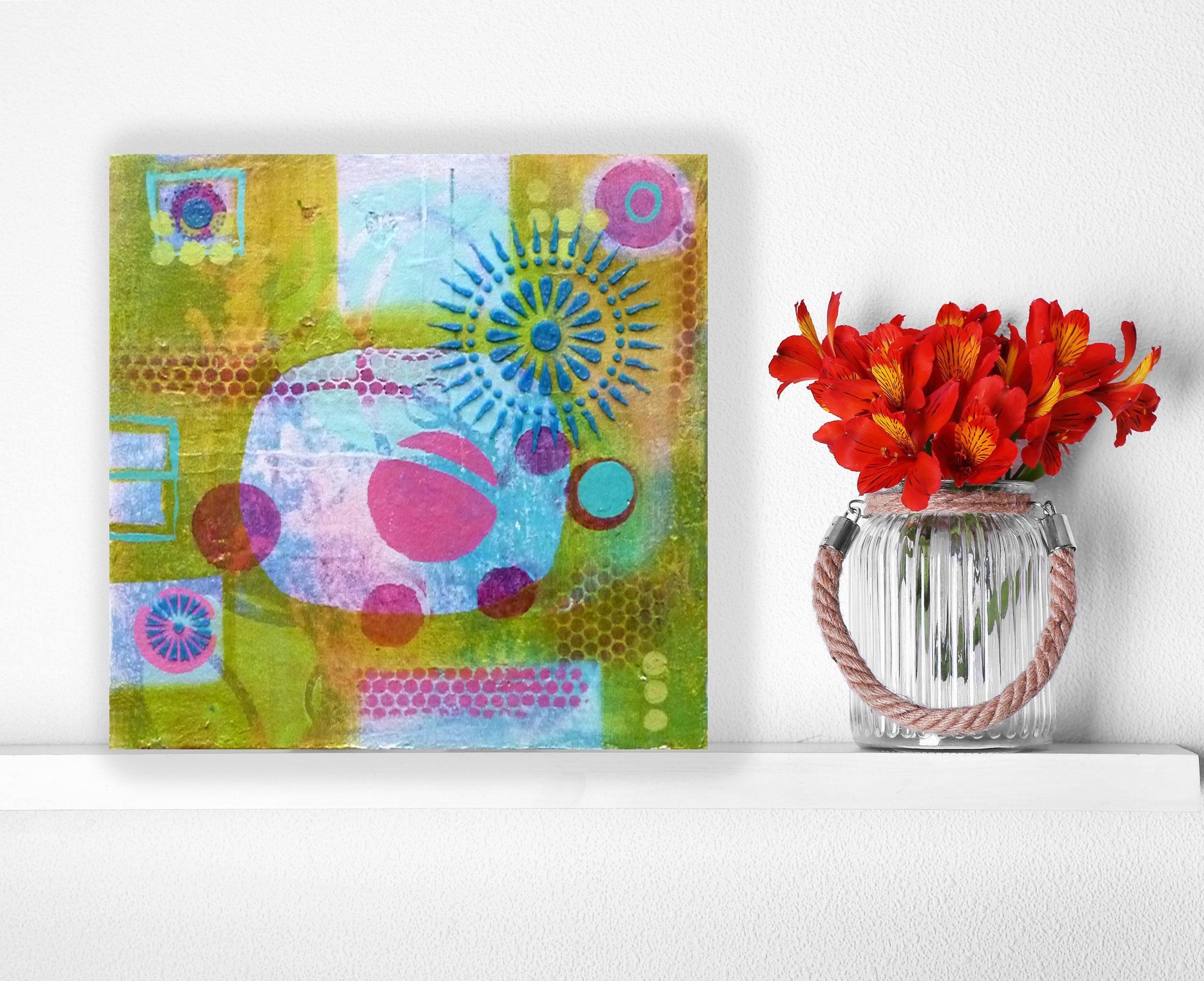 """Calliope 3"" Acrylic on Canvas - Tesia Blackburn"