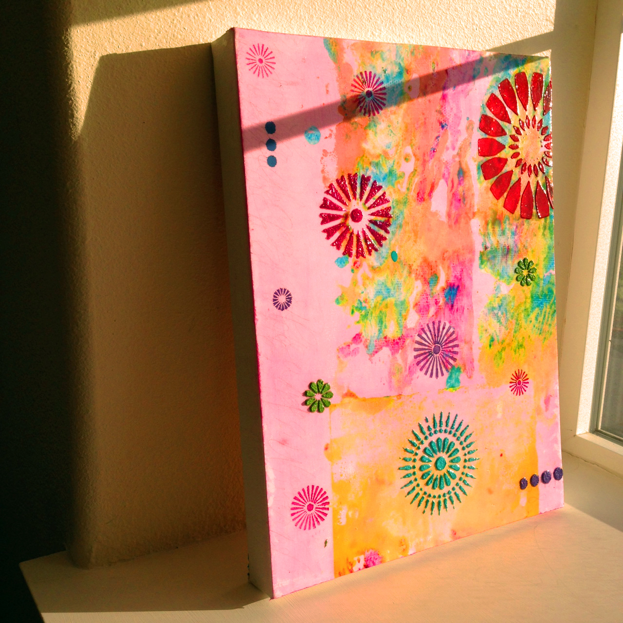 """""""Sunkissed 2"""" Acrylic on Canvas - Tesia Blackburn"""