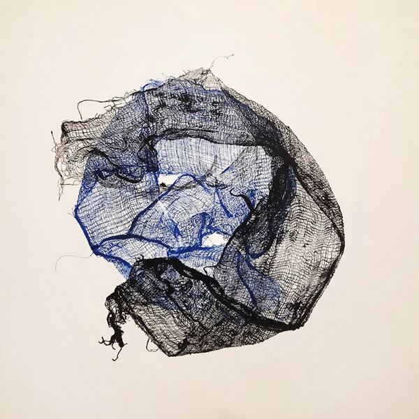 "Vinay Sharma ""Untitled"" Monoprint on birch panel 2018."