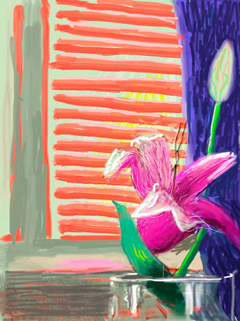 "David Hockney ""Untitled 182"" iPad painting."