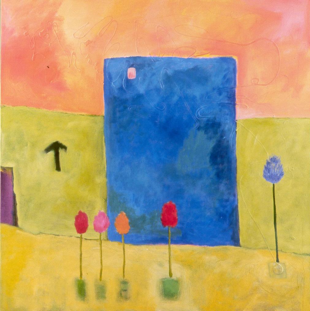 "Tesia Blackburn ""World Mountain House""  Acrylic on Canvas 2003"
