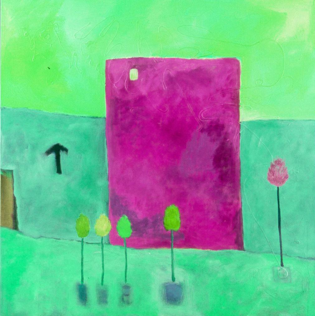 "Tesia Blackburn ""World Mountain House Revisited 1""  Digital Painting 2019"