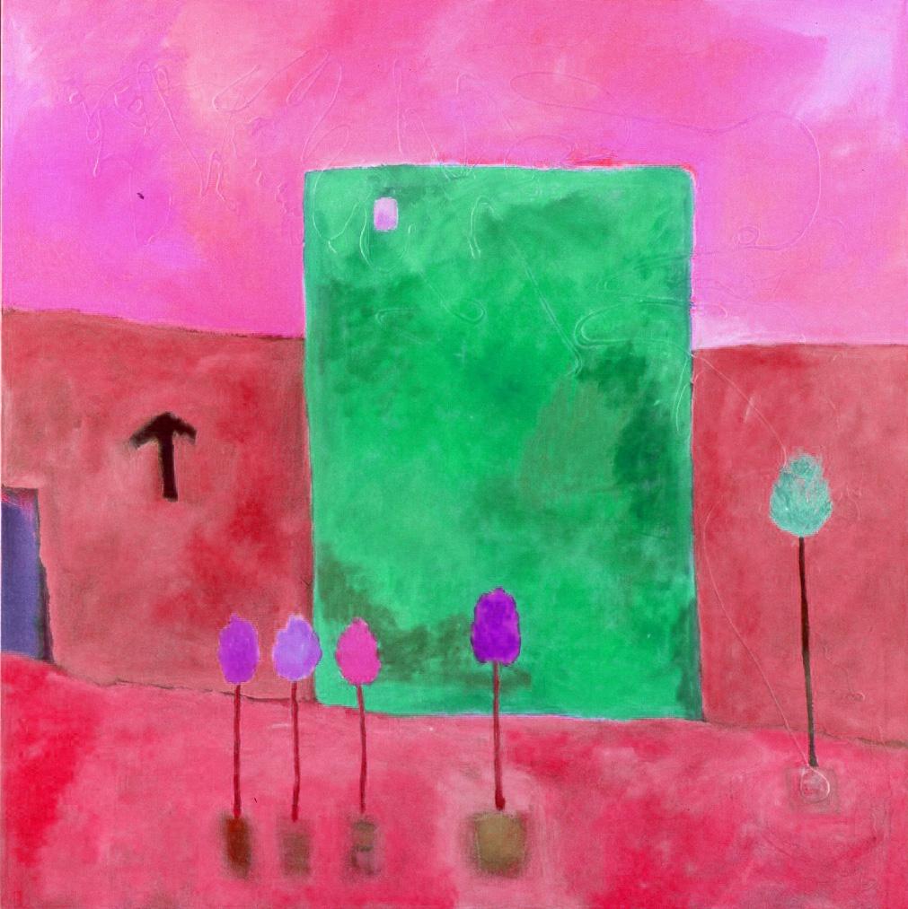 "Tesia Blackburn ""World Mountain House Revisited 2""  Digital Painting 2019"