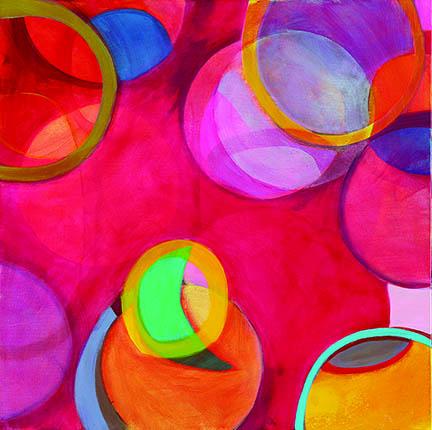 "Tesia Blackburn ""Wonderland"" Acrylic on Canvas 24"" x 24"""