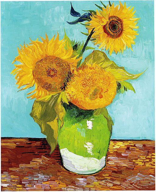"Vincent Van Gogh ""Three Sunflowers"" 1888"