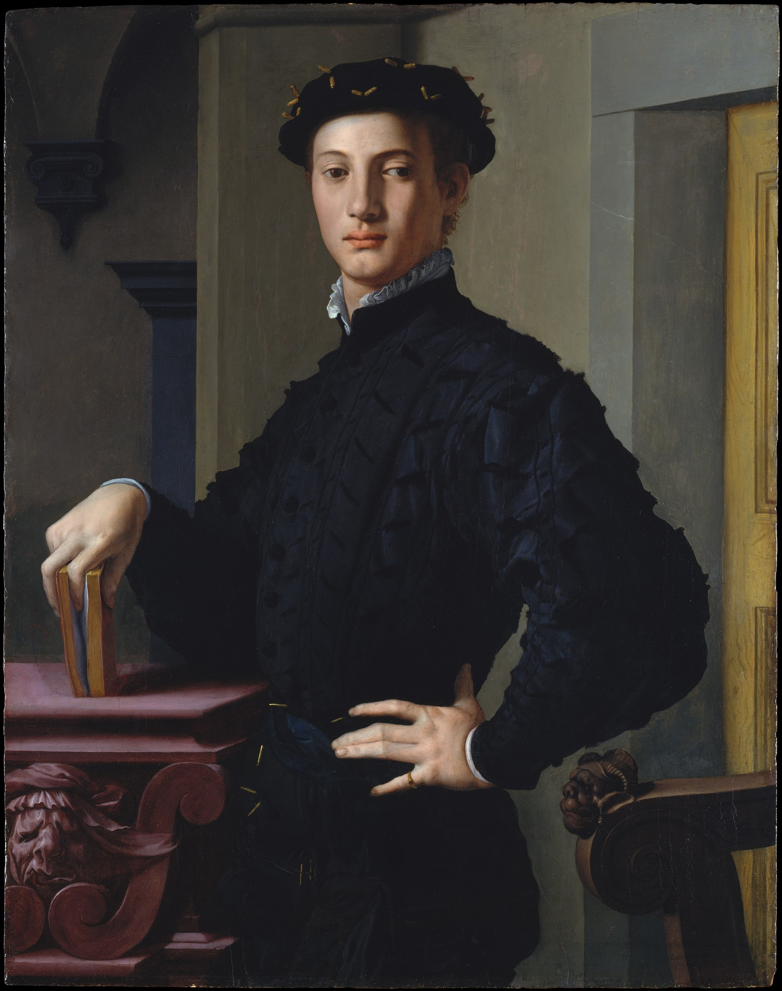 """Agnolo Bronzino """"Portrait of a Young Man with a Book"""" 1540"""