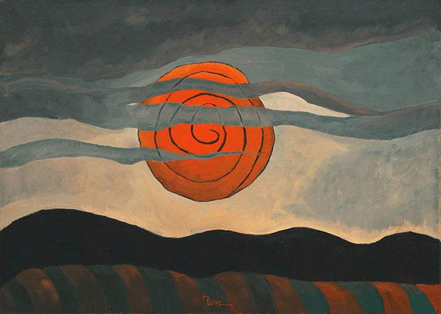 """Arthur Dove """"Red Sun"""" 1935"""
