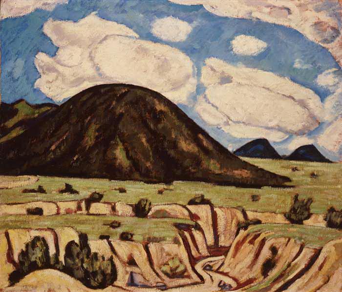 "Marsden Hartley ""New Mexico Landscape"" 1920"