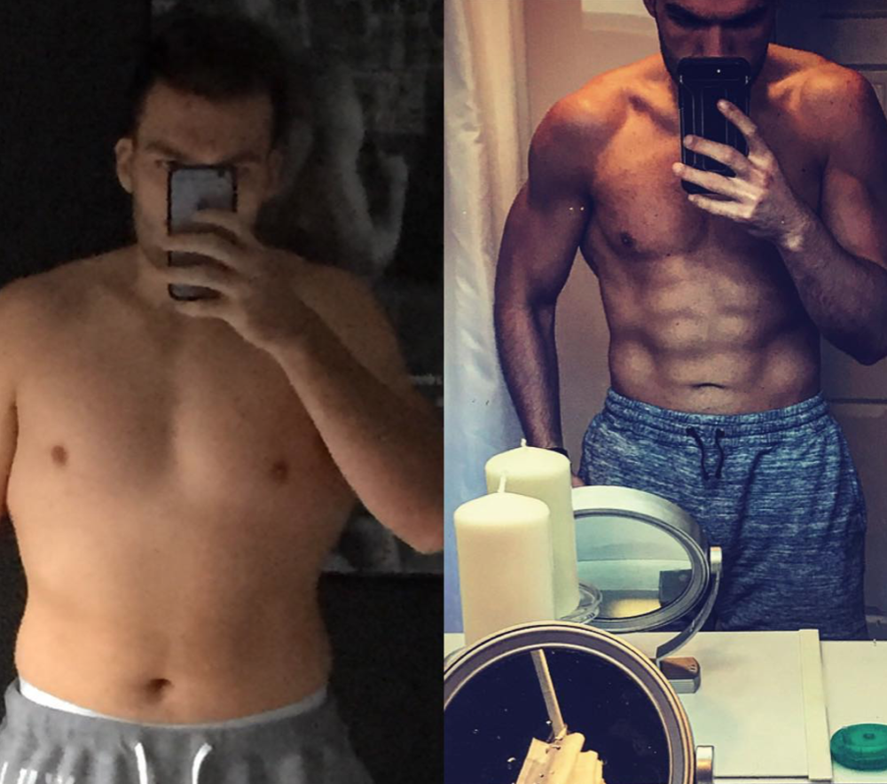 """RYAN BARR - CFS MEMBER   """"Not usually one for posts like this but it's been a long road.  When I stopped playing rugby I was at my heaviest at around 17.5st, in the picture on the left I had gotten down to a round 16.5 after a wee while away from playing. 2 years ago I joined CrossFit and that helped get my BW down to my starting point this time last May at 15st 13lbs or 222lbs after I'd been on holiday.  Tomorrow I head away again for the first time since last year at 192lbs, having lost over 30lbs in the last year. Nothing fancy just consistent training at CrossFit Stewarton and tracking my food intake.  I'm happy with where I'm at just now with the help of a good Instagram filter, but I do think I've made some decent progress."""""""