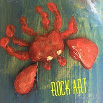 Happy Hooplala Original Fun Art Crab Rock Art.jpg