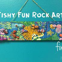 Happy Hooplala Original Fun Art Fishy Fun Rock Art.jpg