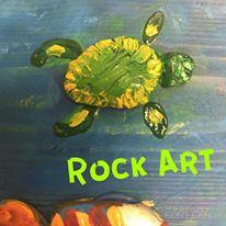 Happy Hooplala Original Fun Art Turtle Rock Art.jpg