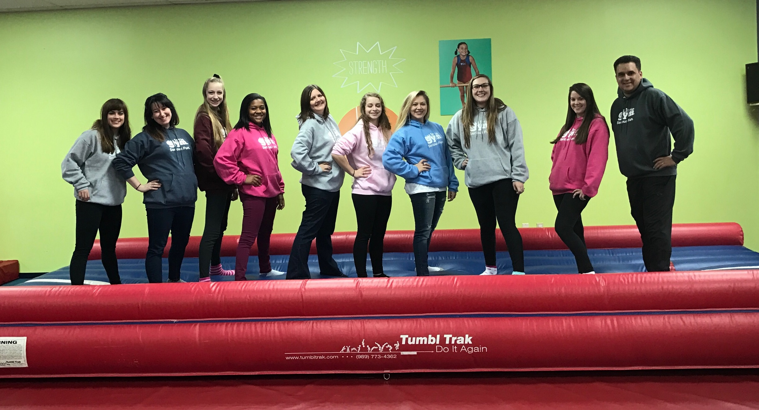 My Final Staff December 2016- Shannon, Kelli, Lyndsey, Victoria, Angel, Anna P., Anna T., Kendall, Mallory, and Corey. (Not pictured Nicolette)