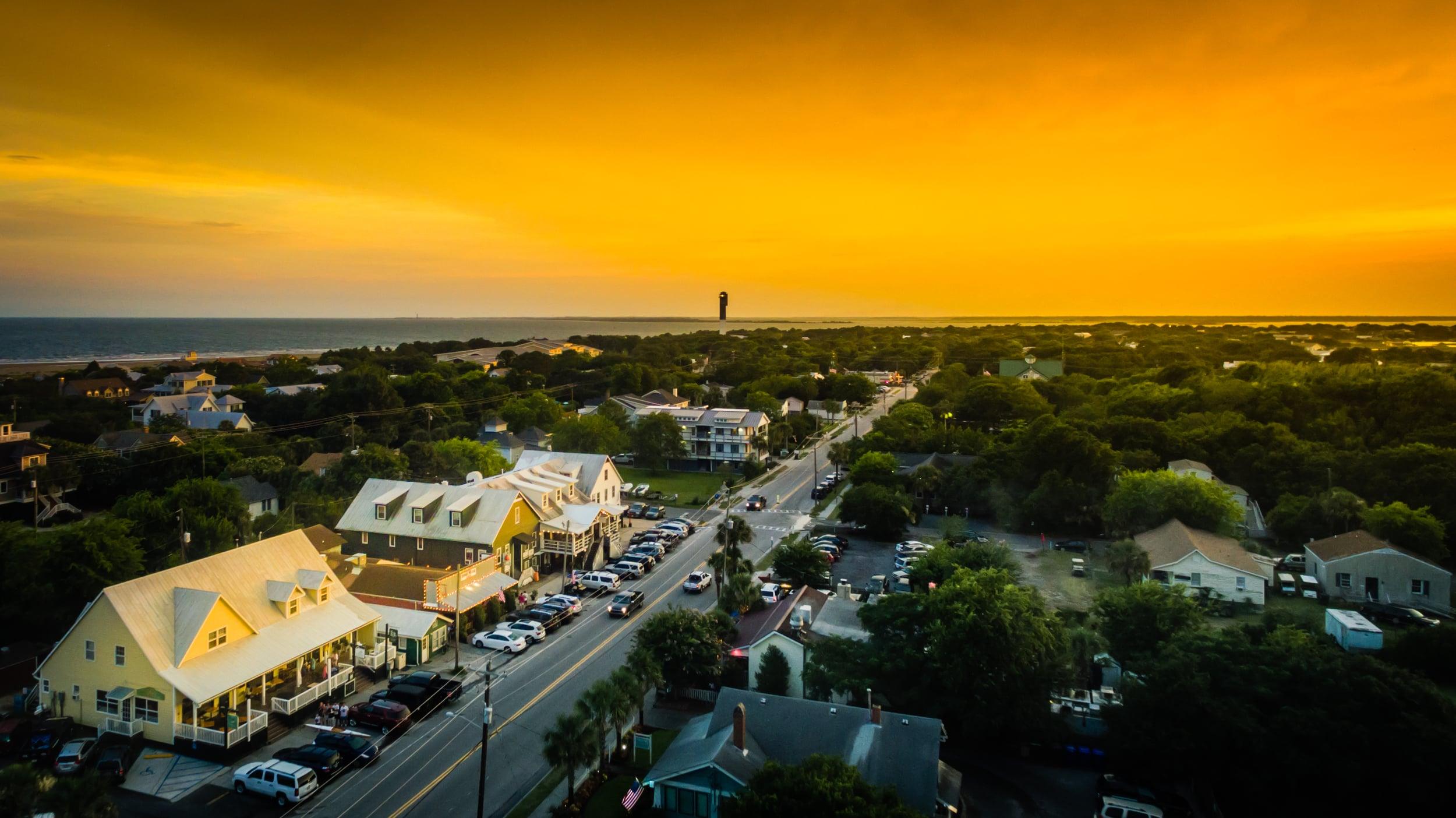 Sunset over Sullivan's Island