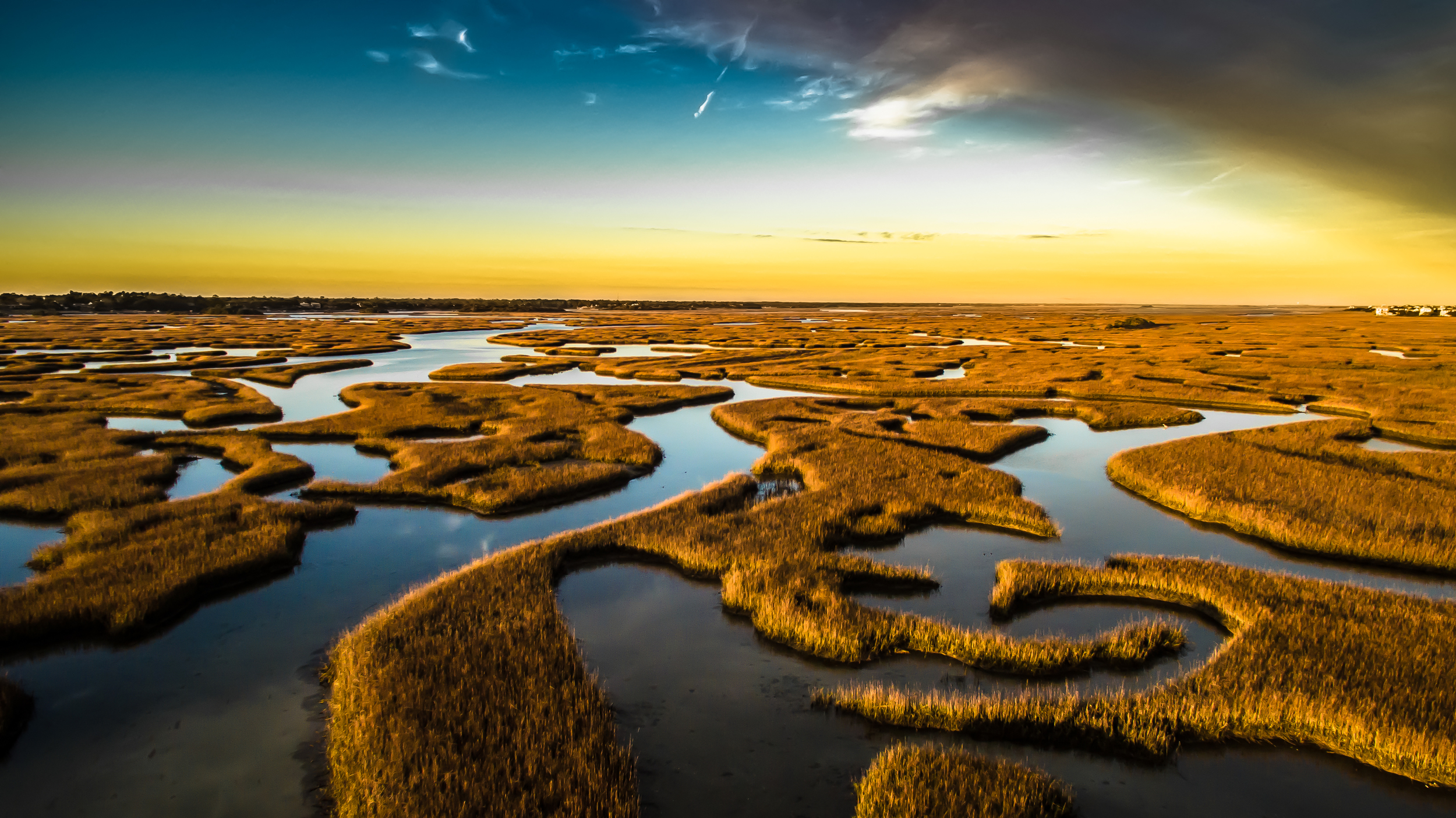 Marsh at dusk