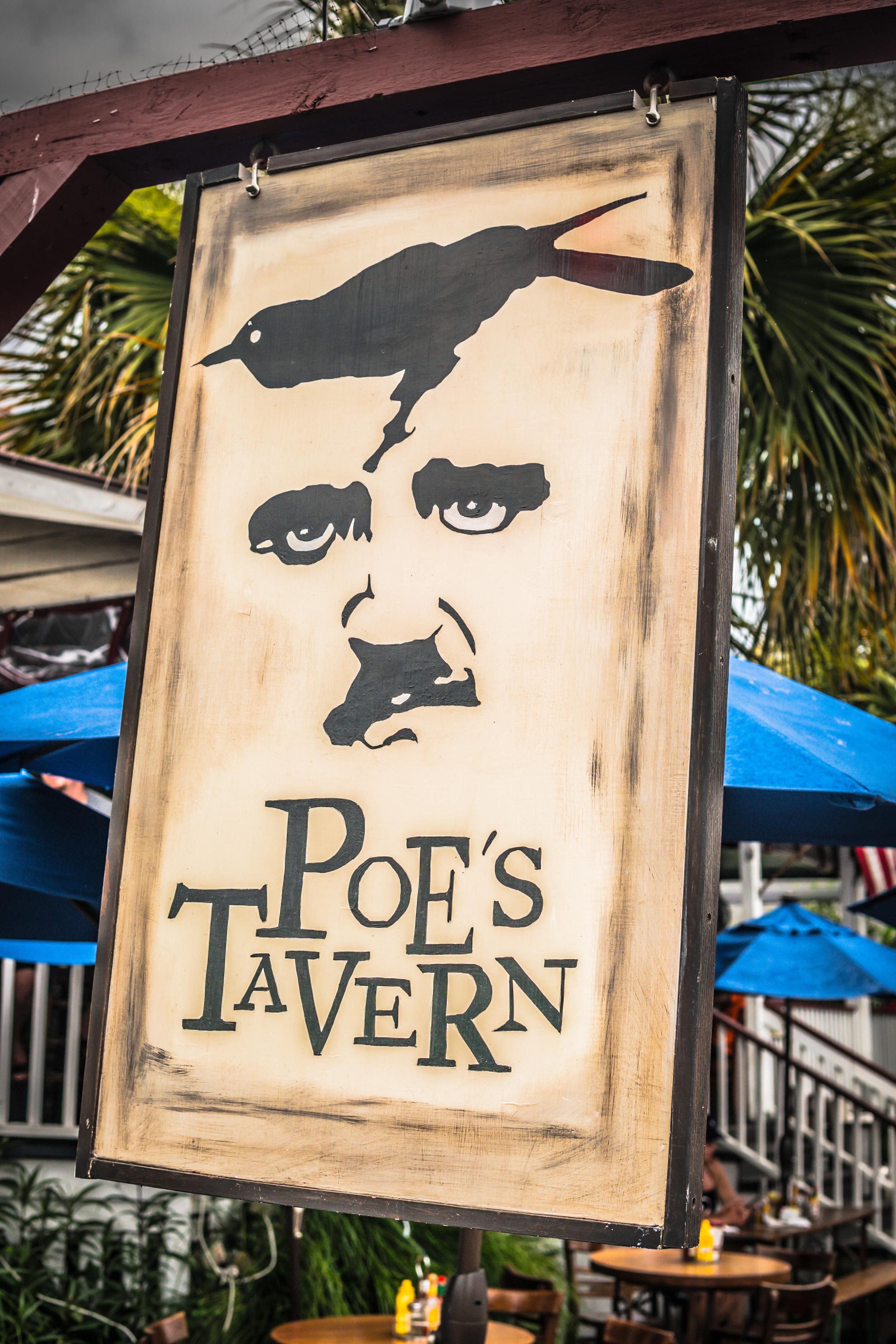 Poe's Tavern Sign