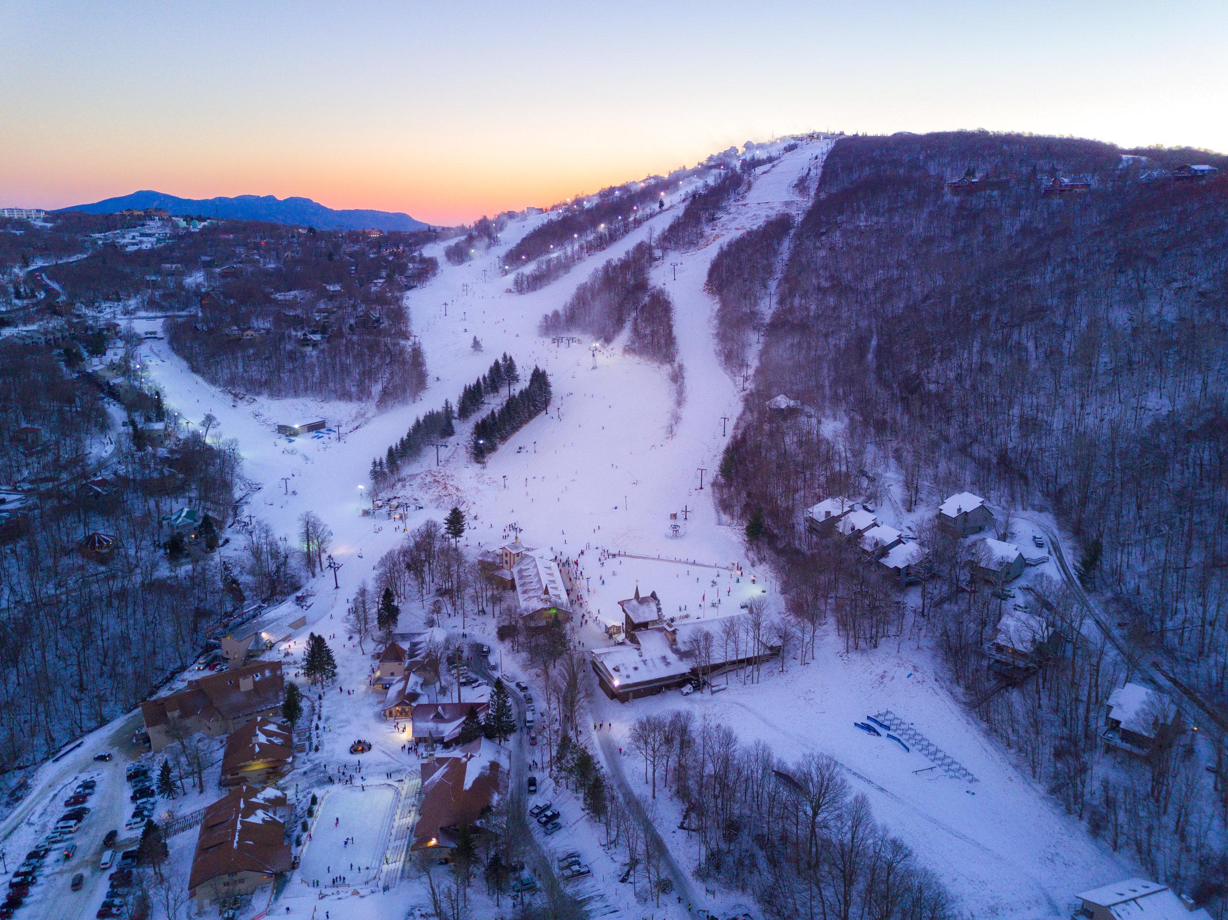 Ski Beech Sunset
