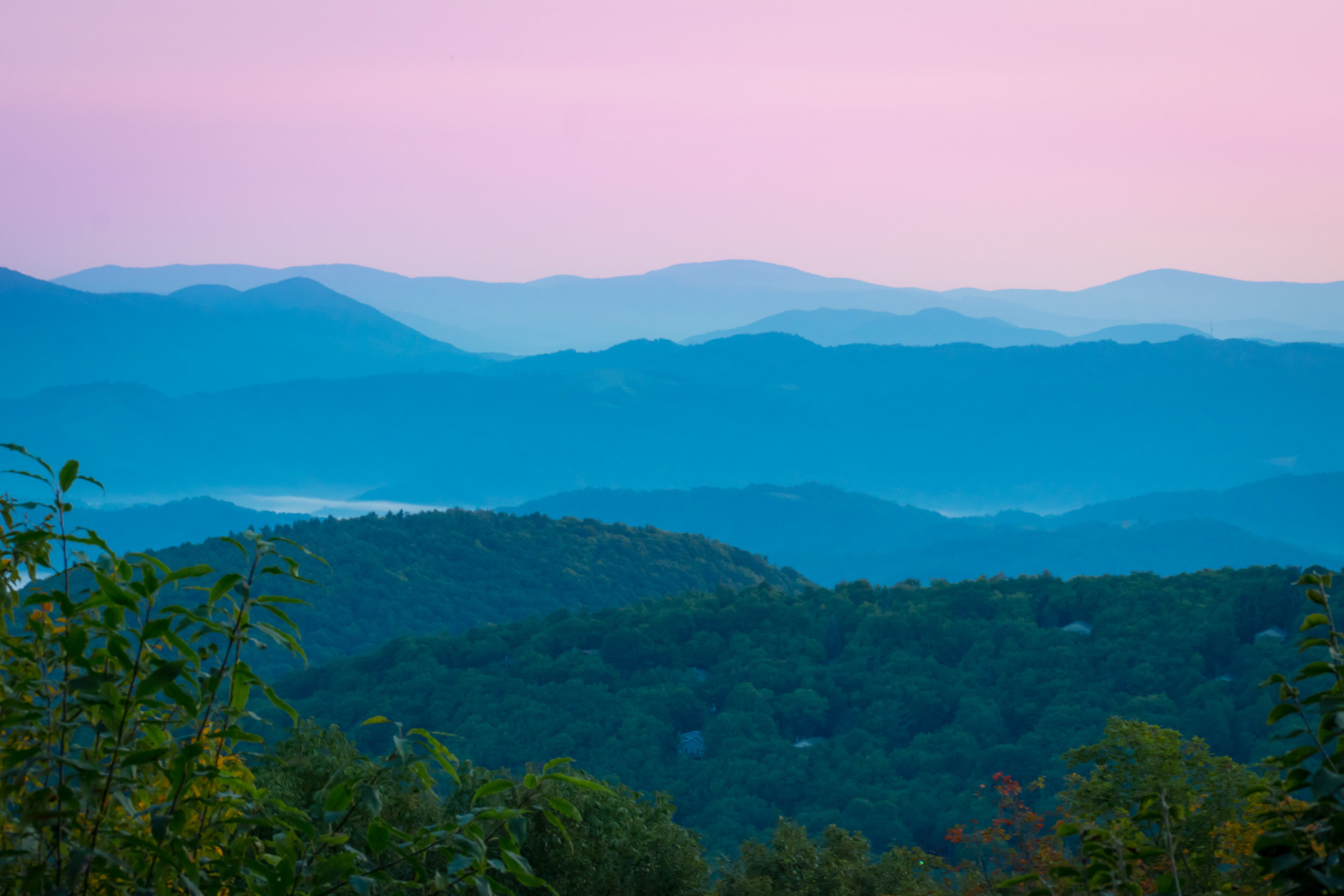 Blue (And Pink) Ridge Mountains