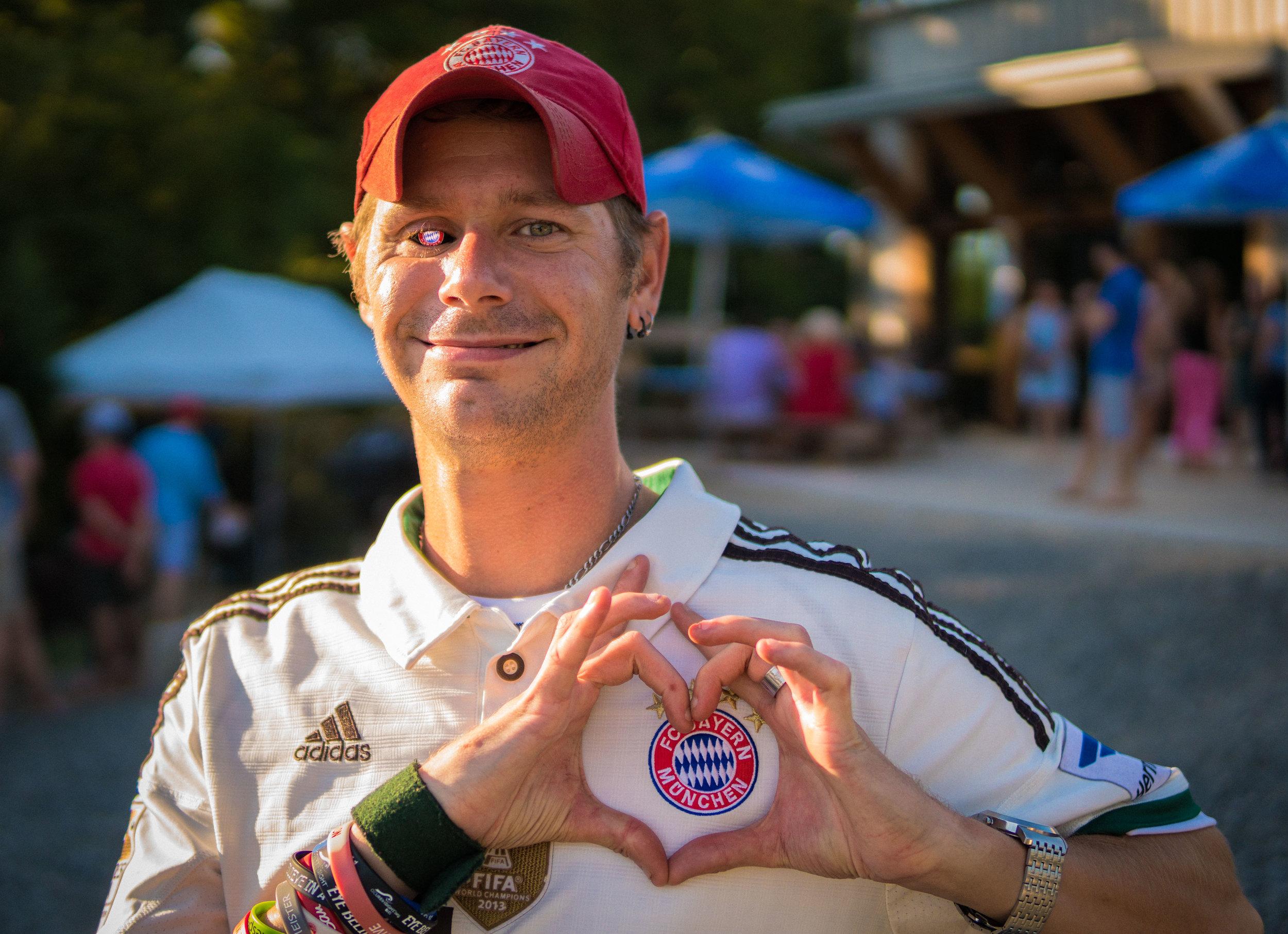 Bayern Munich Superfan Ryan Gibson