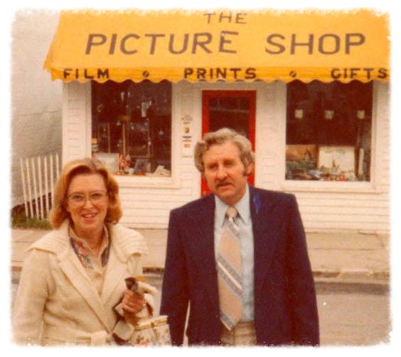 A flashback photo: Frank and Joan Nephew on Main Street Mackinac Island in the 1970's.