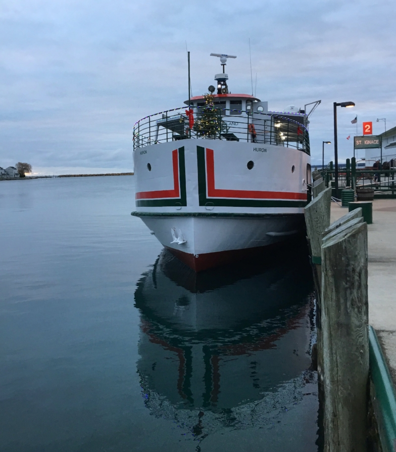 Our winter transportation on and off Mackinac - The Mighty Huron
