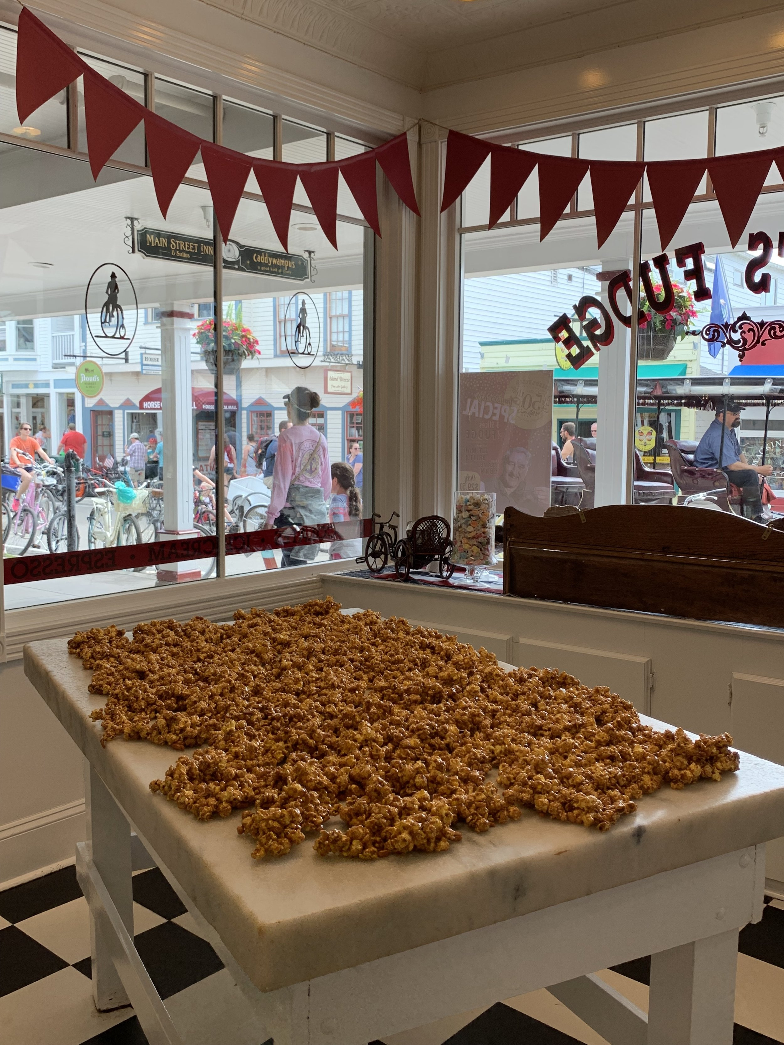 If you visit us in person, try the caramel corn!