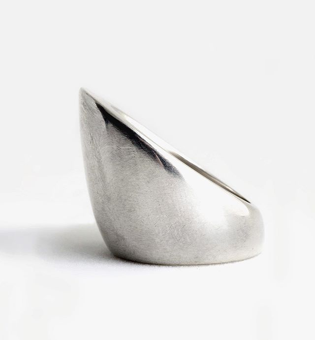 Sterling silver large cone ring.