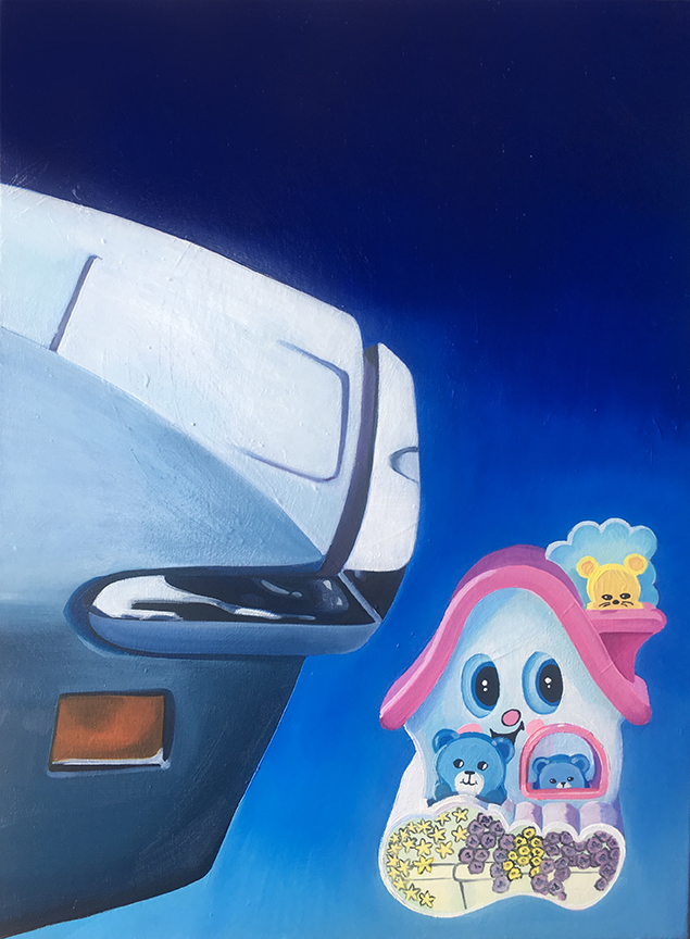 Corvette meets Childhood Toy, 18''x24'', Oil on Canvas