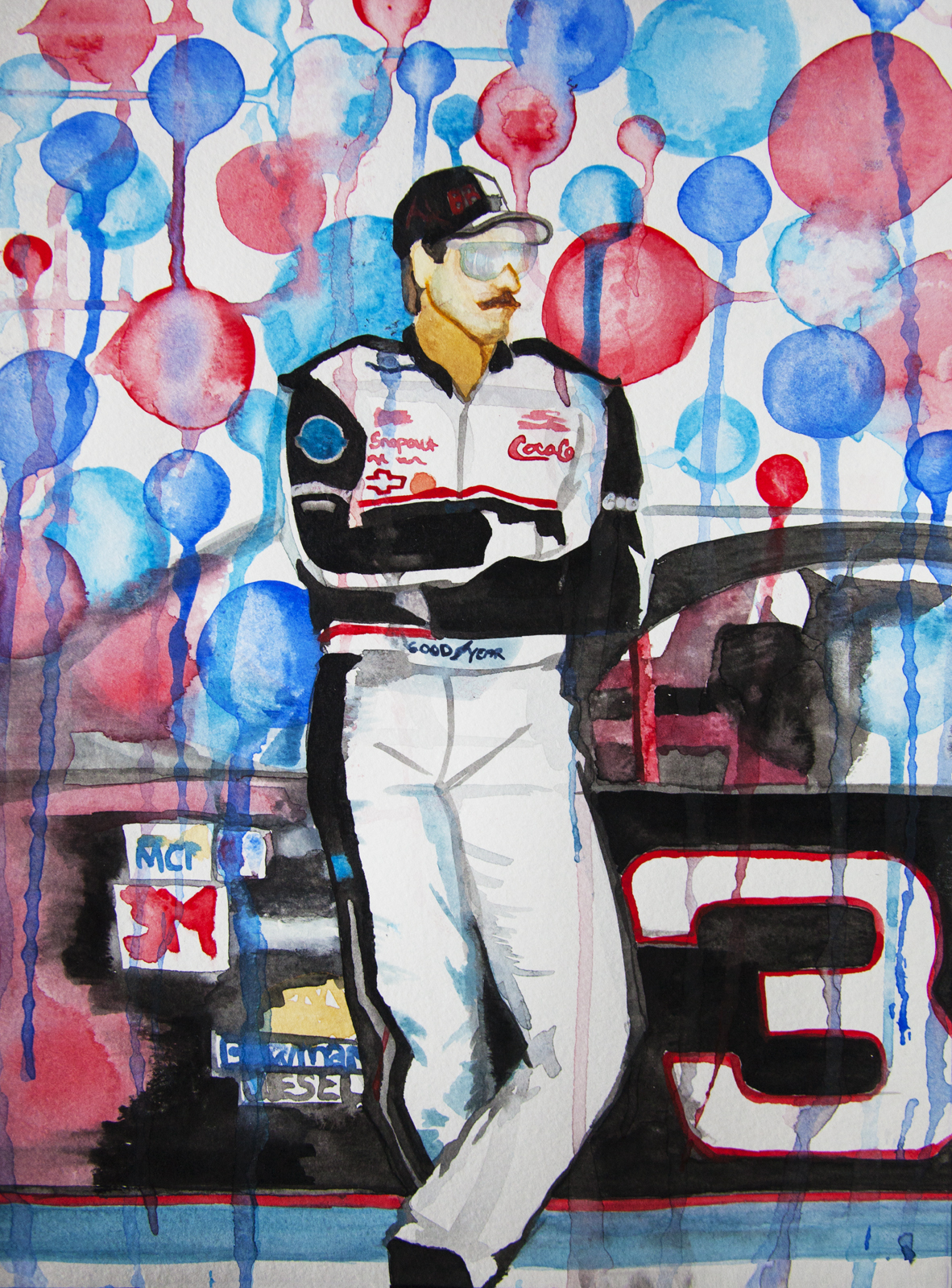 """The Intimidator, watercolor on paper, 9""""x12"""""""