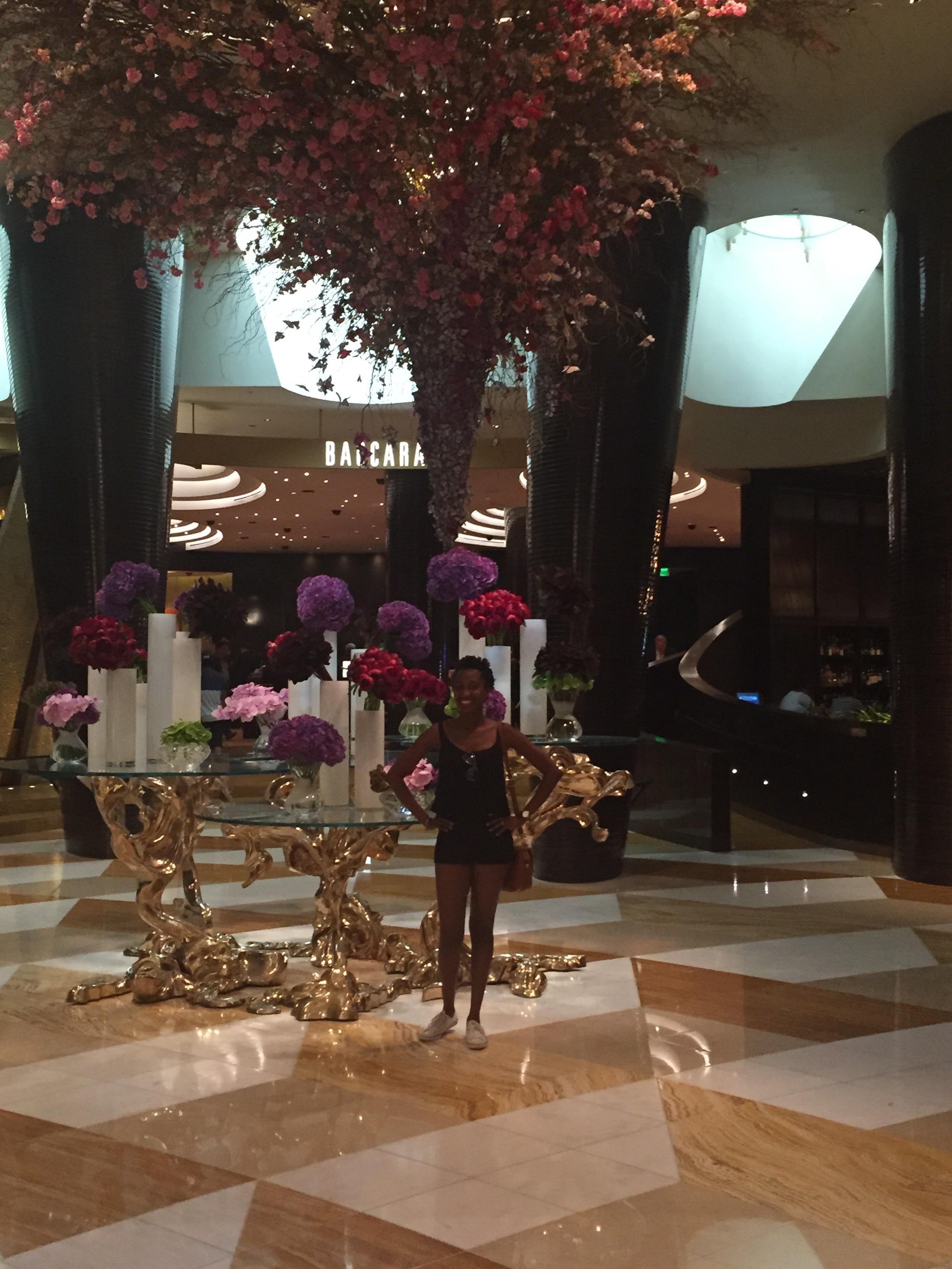Photo II with flowers; Vegas turned me into a flower-backdrop kinda gal