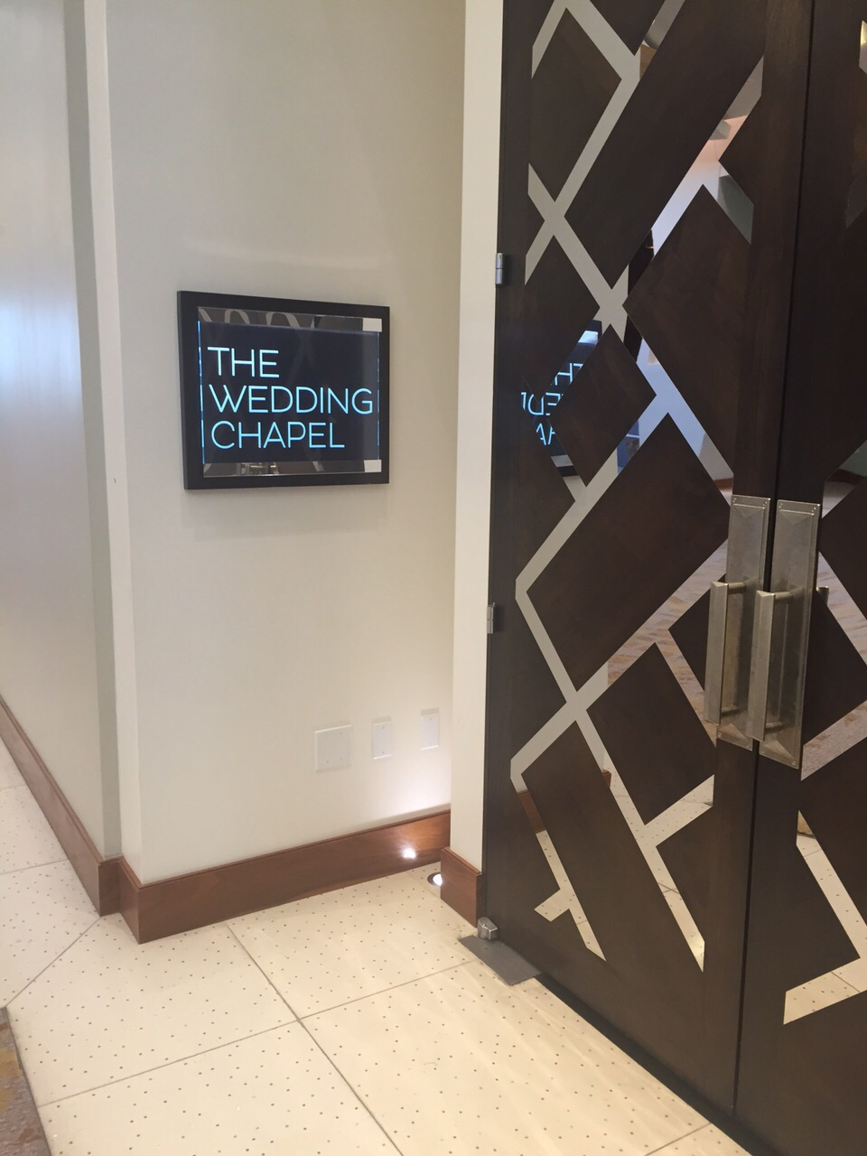 Chances you'd be married by night fall with a chapel in the hotel basement