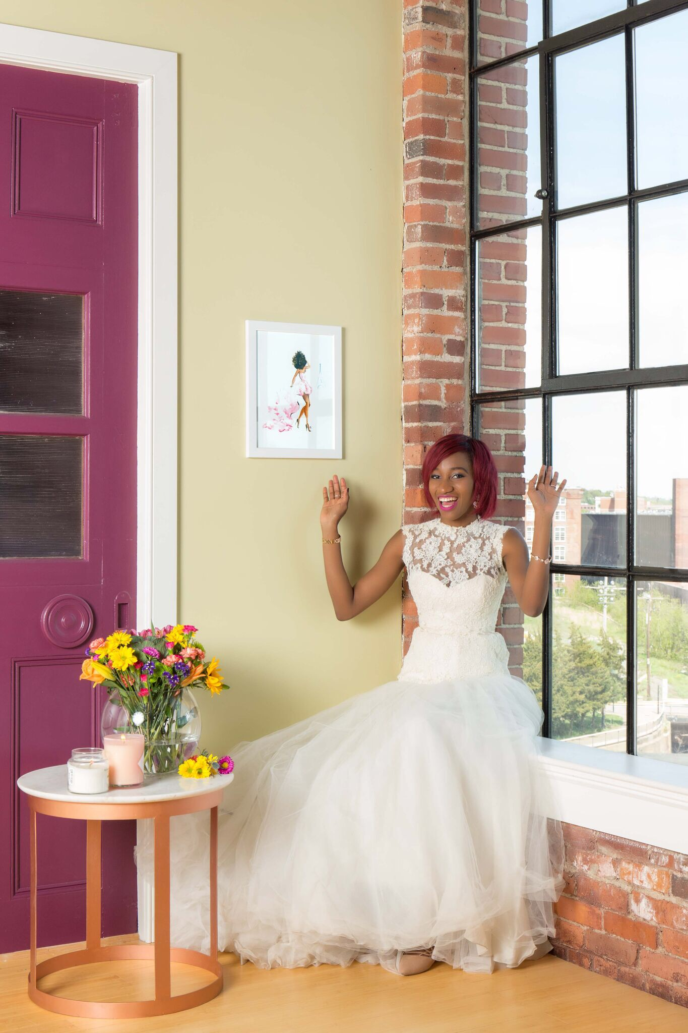 What to do on sunny Saturday afternoons: fool around in your wedding dress.