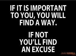 To make an excuse or not