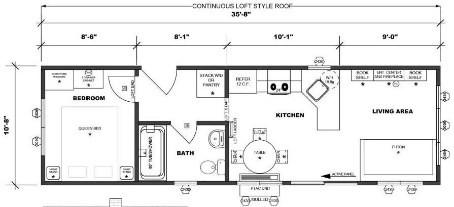Loft Option (Continuous Loft Style Roof)
