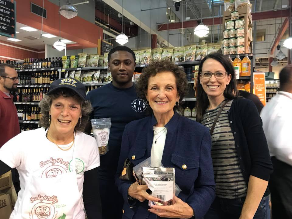 The Food project is also looking into education & jobs with food production. Councilwoman Rikki Spector joined one of our young mentors, Mekhi Cole, from Makings of a Man to explore the possible opportunities with SeedyNutty, a healthy snack developed by Rosanne Skirble.