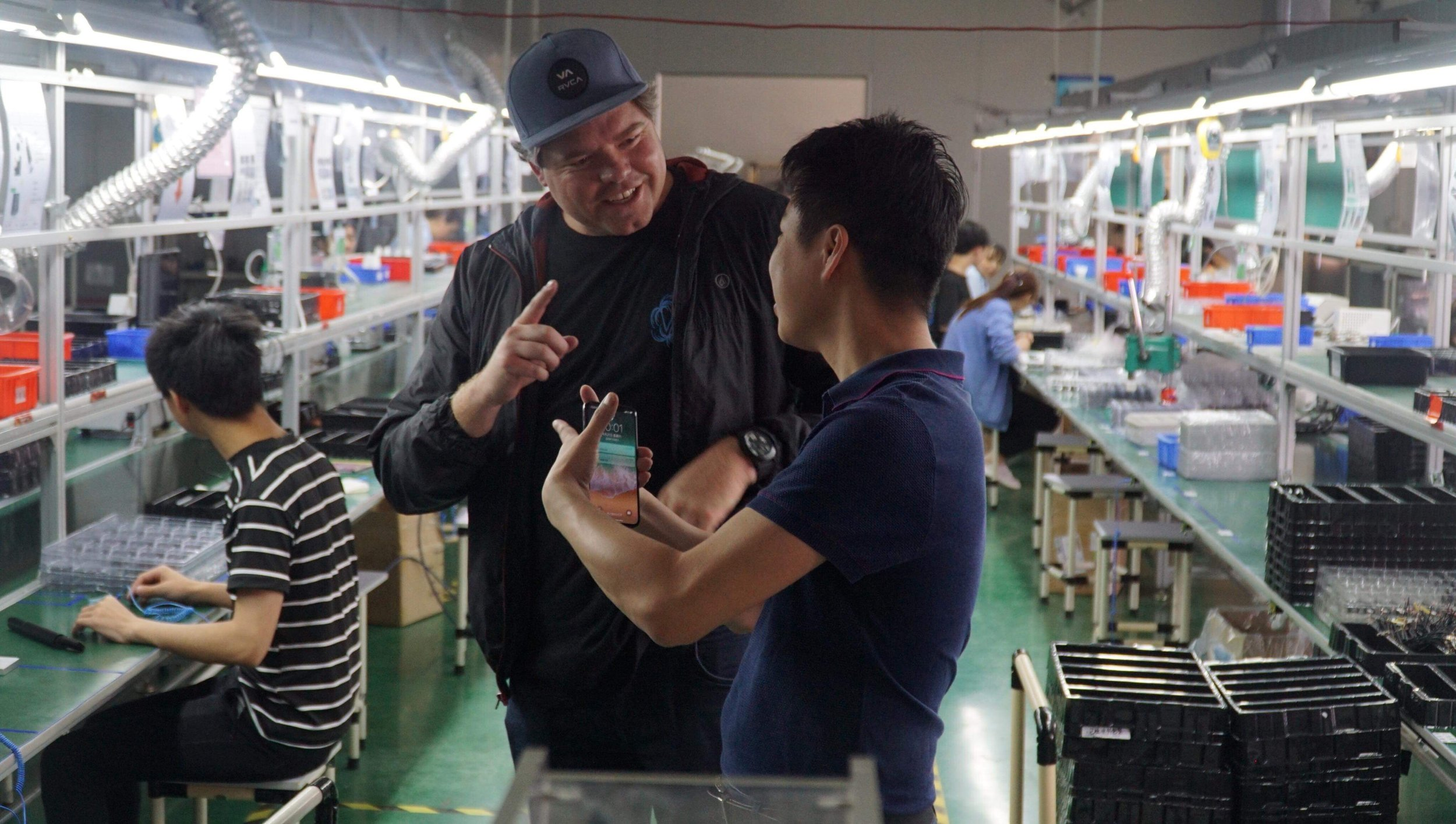 WE WORK DIRECTLY WITH THE OWNERS OF FACTORIES - RICHIE NORTON WORKING ON A PROJECT WITH A FACTORY OWNER