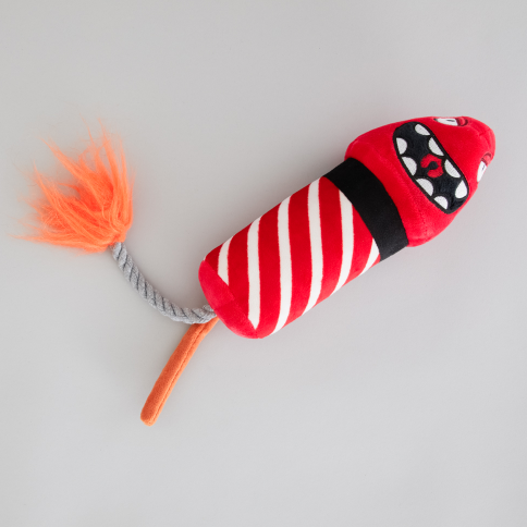 ROCKET MONSTER (value: $10 USD) - Super cute rocket toy filled with multiple squeakers!