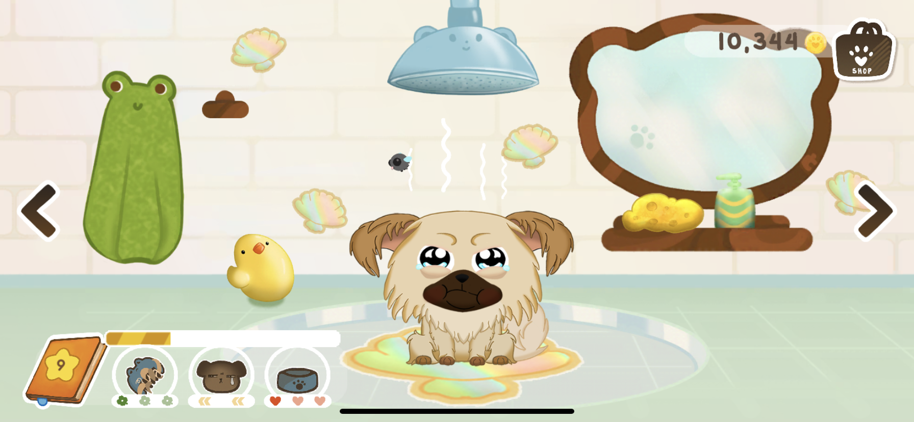 Your pet gets upset if you don't bathe him/her from time to time!